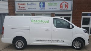 65988eb7a8 We are also now the proud possessors of a donated leased brand new Toyota  courtesy of Jemca Reading.